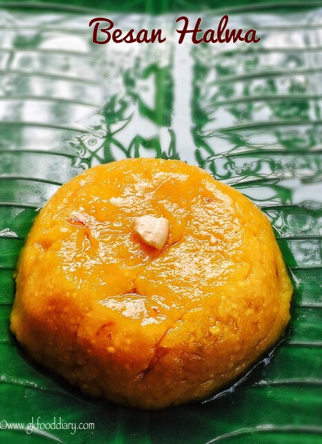 Besan Halwa Recipe for Toddlers and Kids