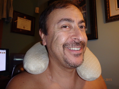 picture of man with neck pillow