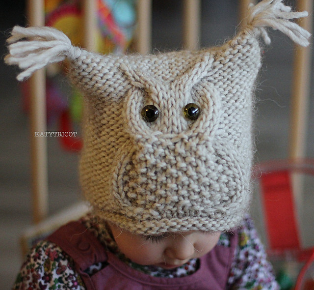 (i) knit owl toque