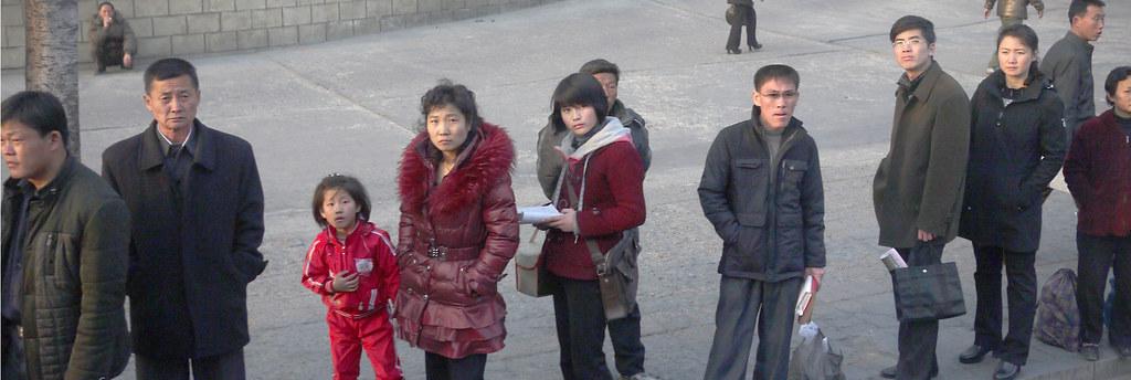 Bus Queue in Pyongyang