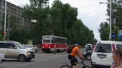 Irkutsk tram street scene 71-605