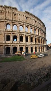 Image of Colosseum near Roma Capitale. trip20170208 rzym roma muzeumwatykańskie colosseum geo:lon=12493097 geo:lat=41890889