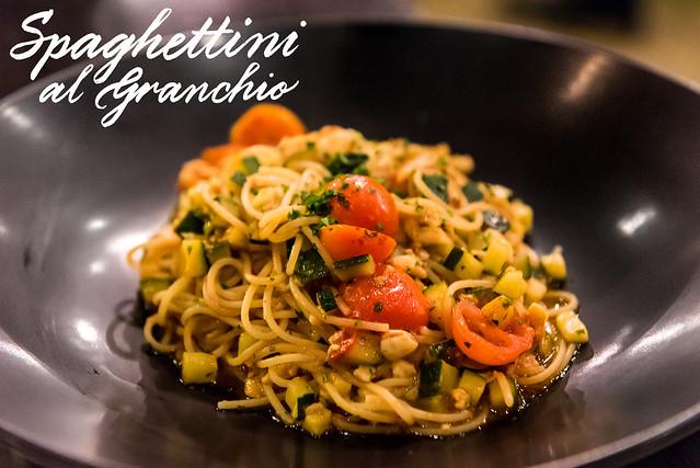 Spaghettini al Granchio $36