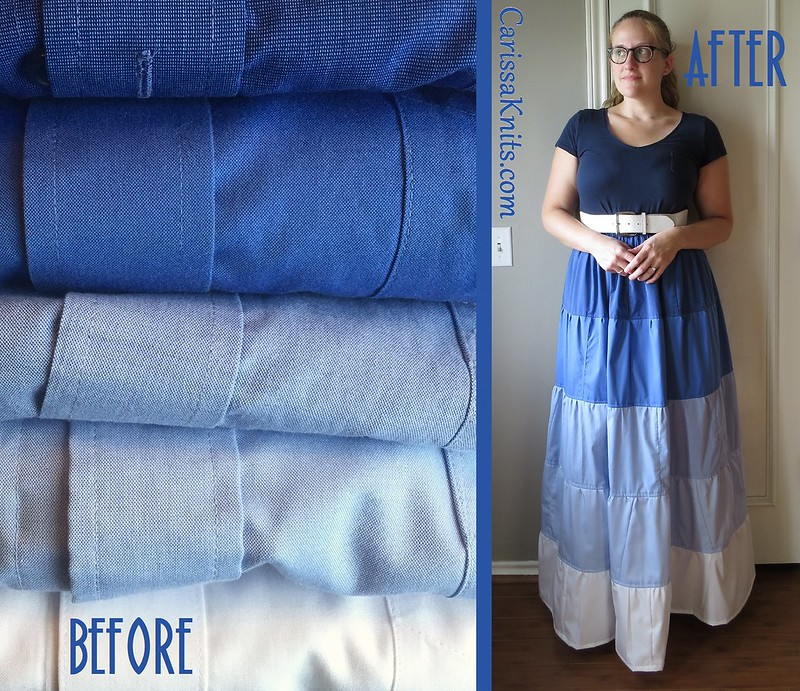Ombre Tiered Skirt - Before & After