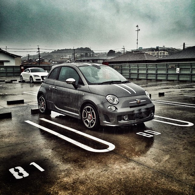 ABARTH in the rain