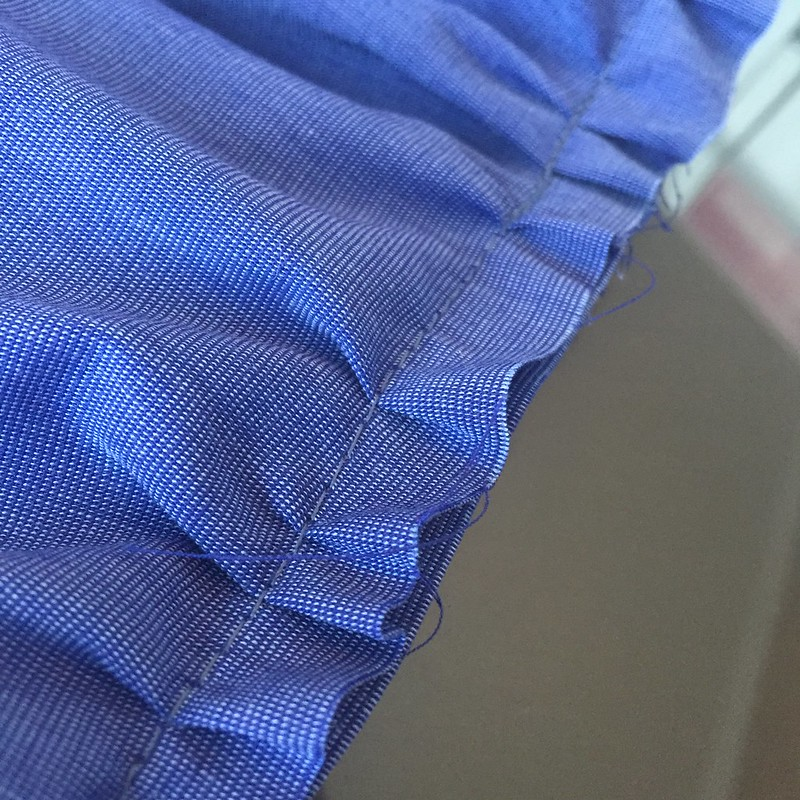 Ombre Tiered Skirt - In Progress