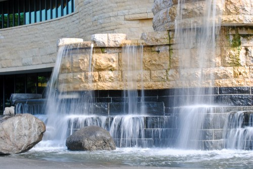 Waterfall Outside National Museum of the American Indian