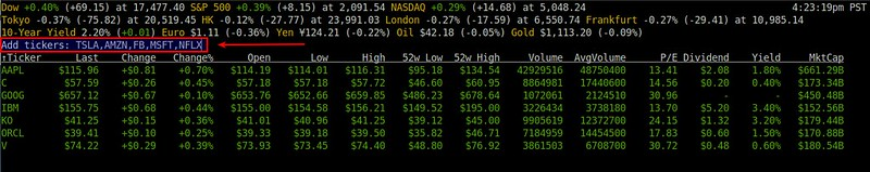 How To Monitor Stock Quotes From The Command Line On Linux Xmodulo