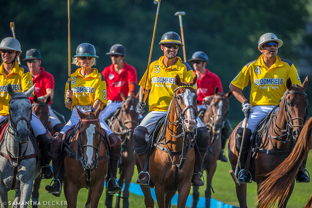 Polo Players Heading Out to the Field