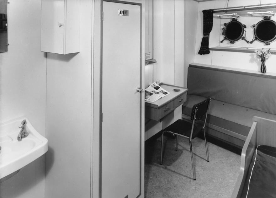 A seaman's cabin on the tanker 'Borgsten'