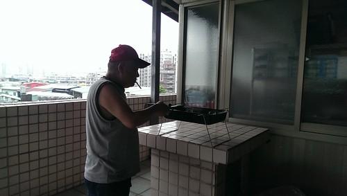 中秋節公公烤肉@頂樓