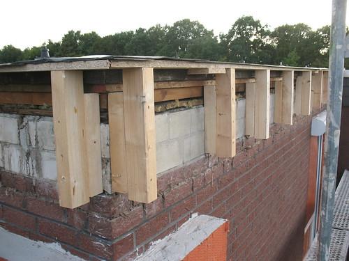 Neue Dachbalken