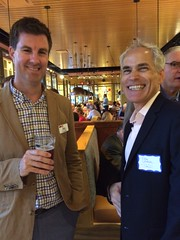 Southern hospitality was in focus at September's networker at Tupelo Honey Café in Arlington. From fried okra to local micro-brewed beers, AMADC professionals networked southern style, with gracious sponsor host, Mediabarn. Left to right: Brent Hayhurst, VP Sponsorship and Brian Lawrence, TGD