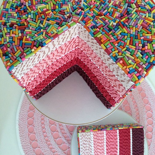 Quilled Ombré Layer Cake - Overview