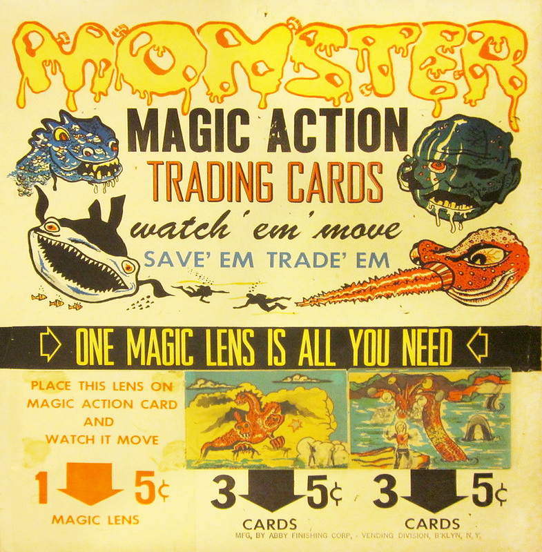 Monster Magic Action Trading Cards (1963) poster