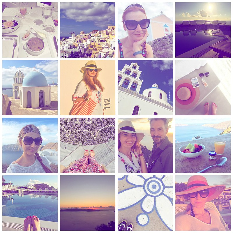 Santorini fashion blogger montage