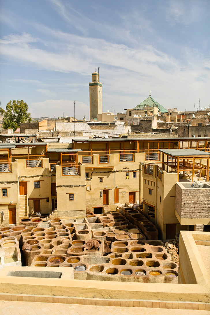 Colorful Sights and Odd Smells of the Chouara Tannery in the Fez Medina.