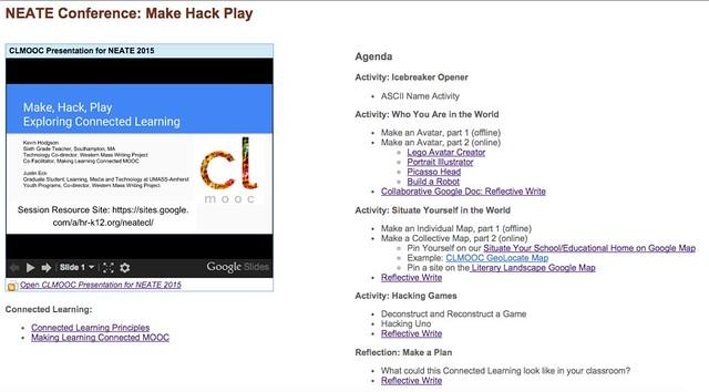 Making Hacking Playing at NEATE