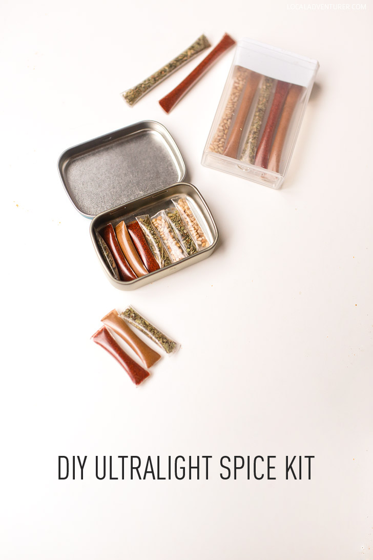 DIY Ultralight Travel Spice Kit (what to take for gourmet camping food).