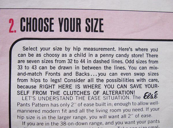 Else pants choose your size