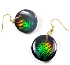 Green Concave Illusion Earrings