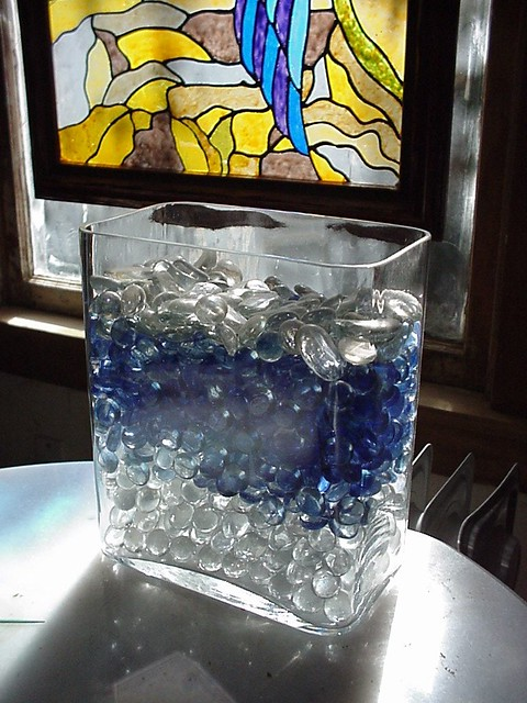 Container of Glass Beads