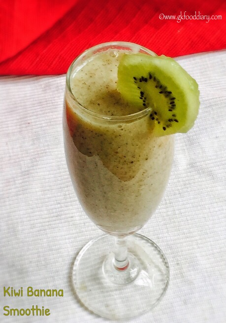 Kiwi Banana Smoothie for Babies, Toddlers and Kids