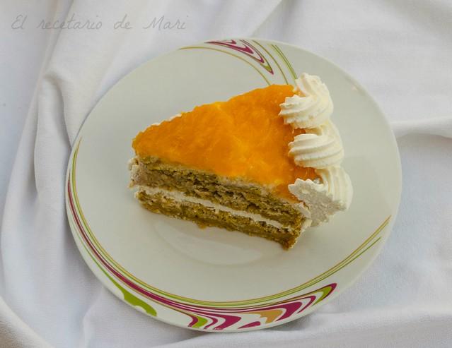 Tarta de calabaza con cuajada de naranja 1