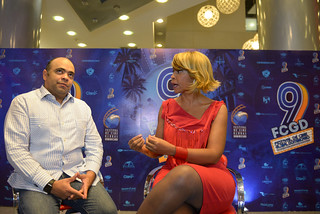 Omar de la Cruz en el Programa A Imagen con Aleja Flores. Blue Mall-2