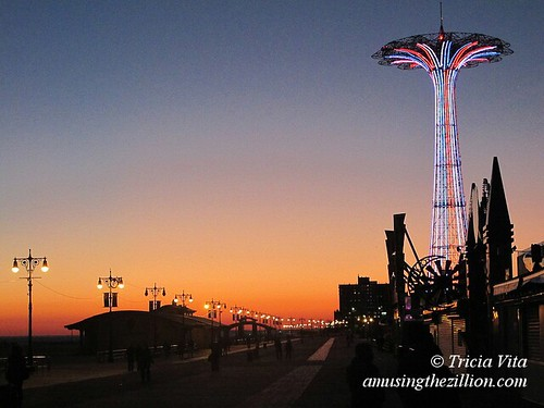 Coney Island Parachute Jump French Tricolor