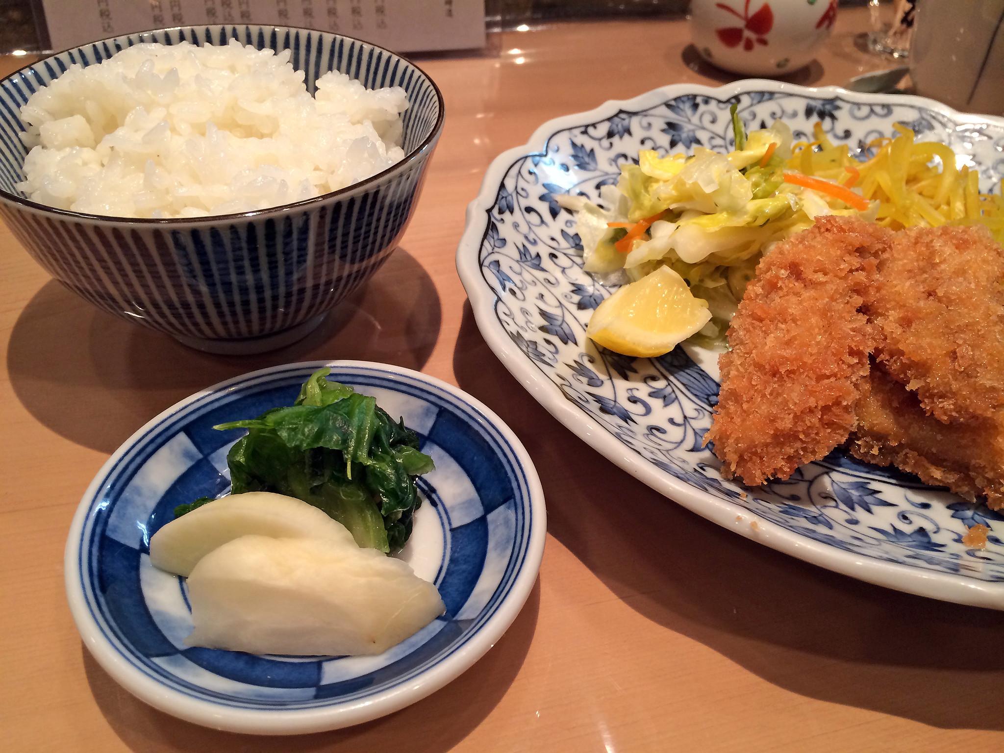 Fried sardine set menu lunch