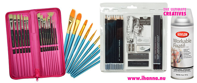 Want paint brushes and pencils!