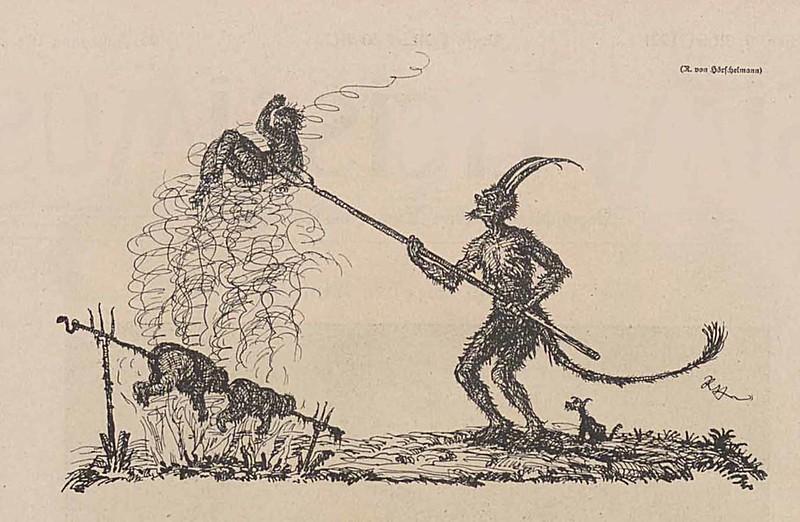 Rolf von Hoerschelmann - On A Spit, 1921