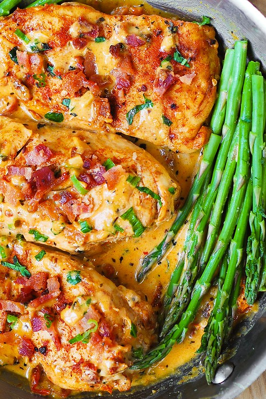 recipe for chicken breast with cream cheese and bacon