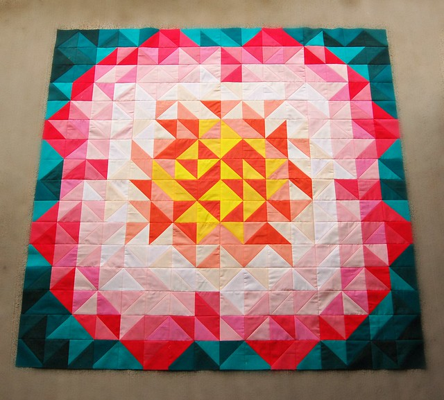 Mias Baby Quilt Pieced