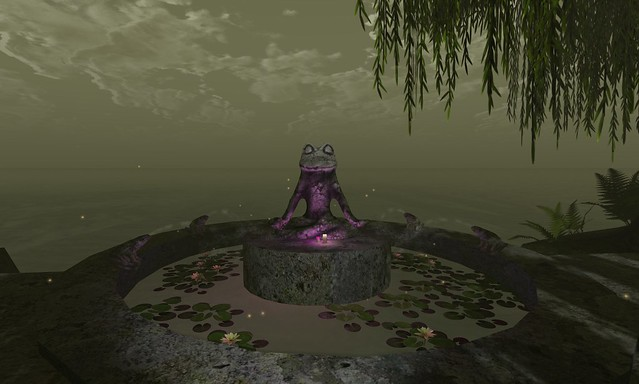 Zyn ~ Zen Master Ribbit Statue ~