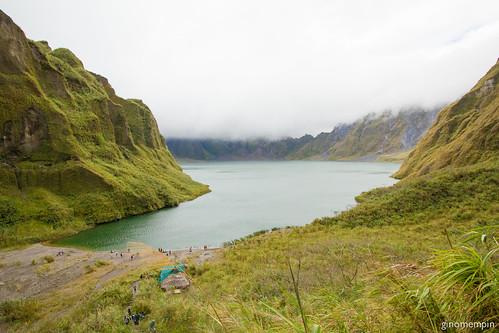 pinatubocrater pinatubo trek volcano crater lake hiddenbeach cove mountains hills clouds canon1022 wide