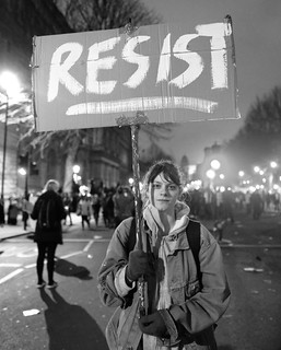 RESIST - A demonstrator with a message at London's anti-Trump rally. | by alisdare1