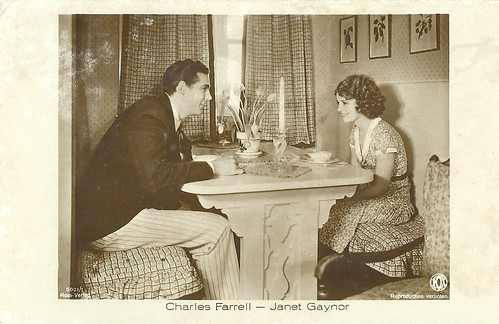 Janet Gaynor and Charles Farrell in Sunnyside Up (1929)