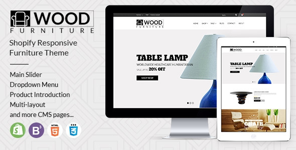 Parallax Shopify Theme v1.2 - Wood Furniture Decoration