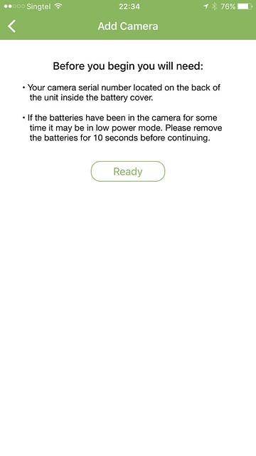 Blink iOS App - Blink Camera - Setup #2