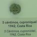 1942 Monedas Años 1900-1950  Museo Numismática Banco Central San José de Costa Rica 23