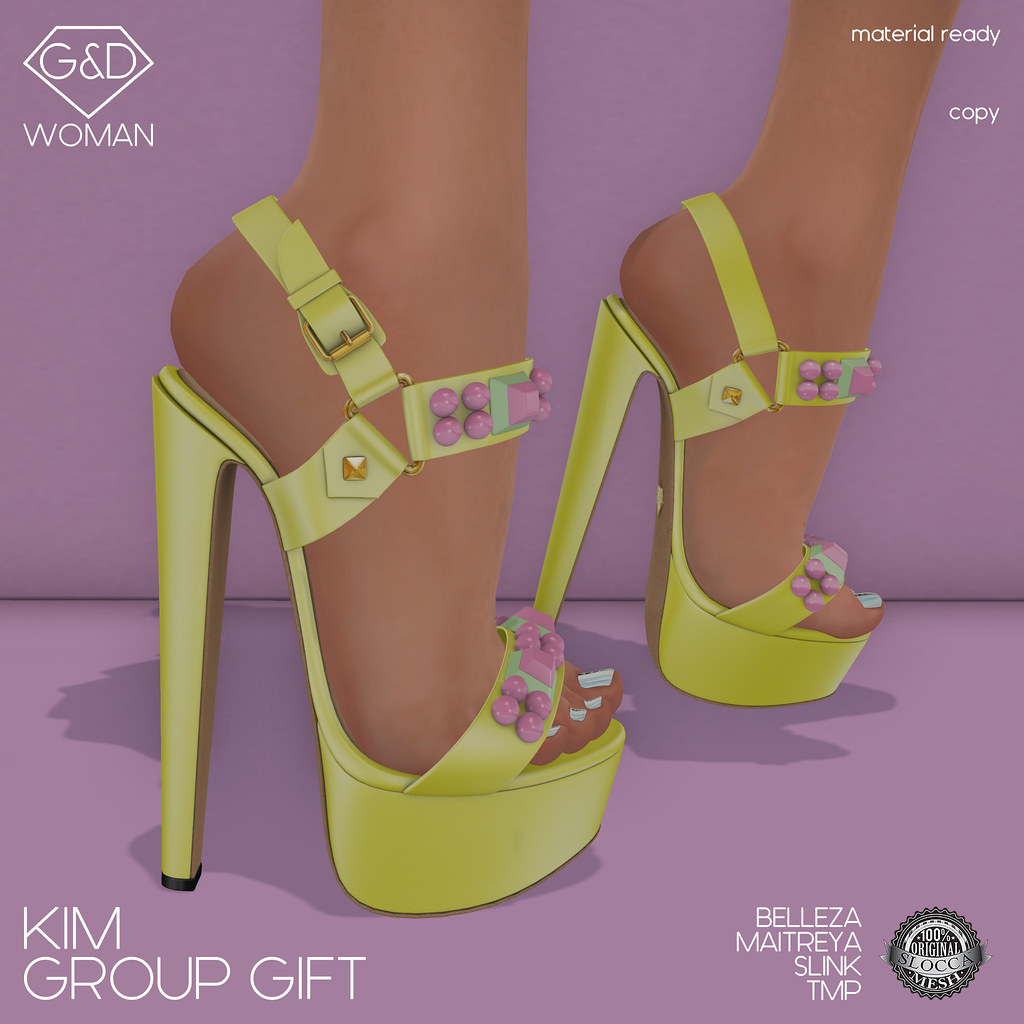 G&D Sandals Kim Group Gift - SecondLifeHub.com