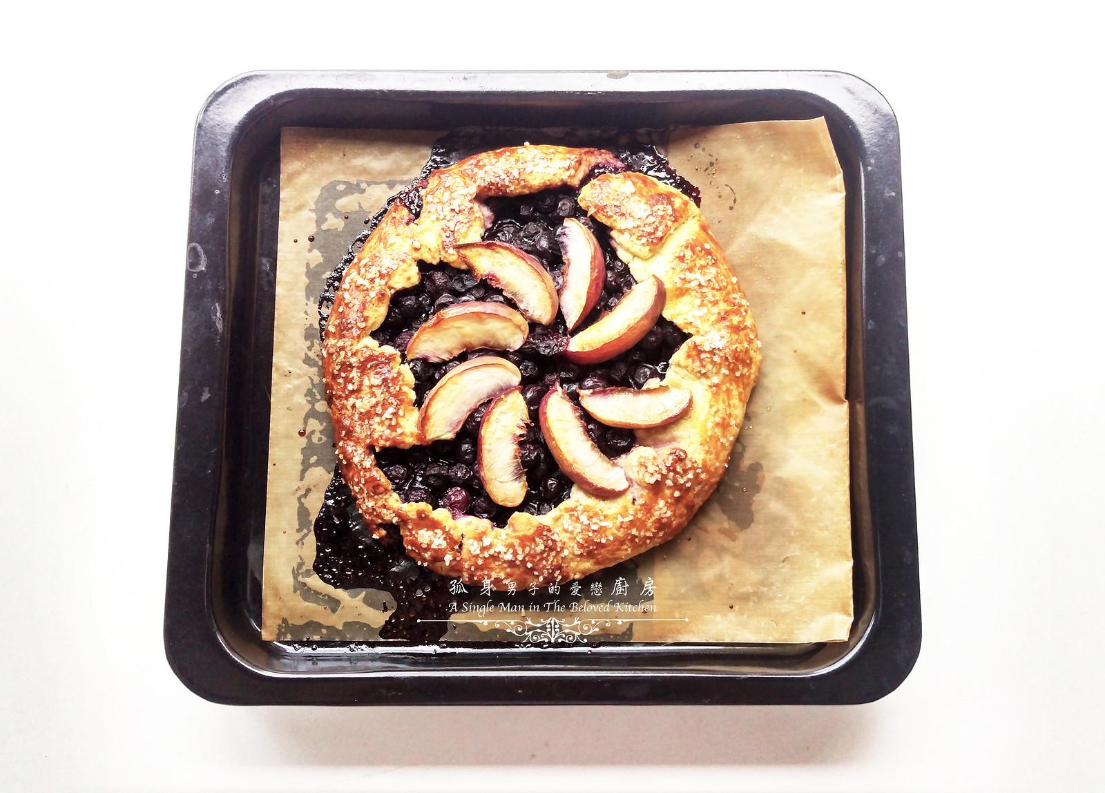 孤身廚房-藍莓甜桃法式烘餅Blueberry-Nectarin Galette24