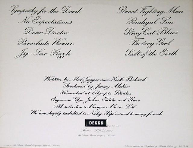 """Rolling Stones Beggars Banquet Decca FFSS 12"""" VInyl LP"""
