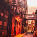 New York City Alley - Staple Street Skybridge by Vivienne Gucwa