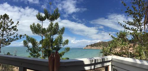 Blick vom Balkon: Base Backpackers Resort