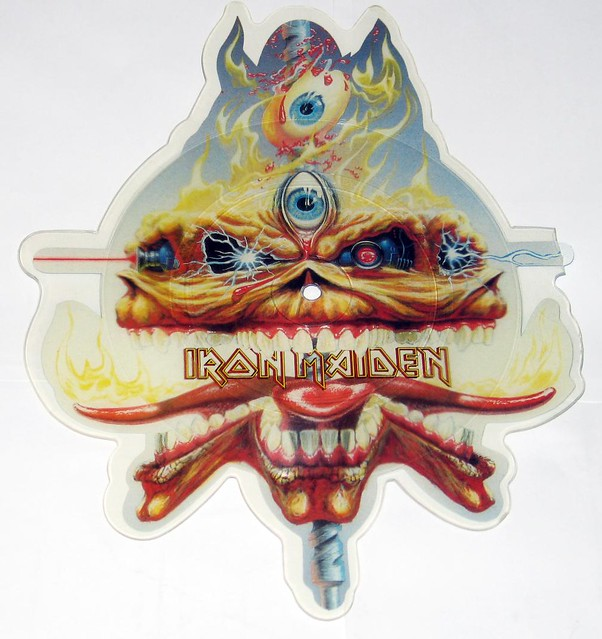 IRON MAIDEN Clairvoyant Cut To Shape Shaped Picture disc