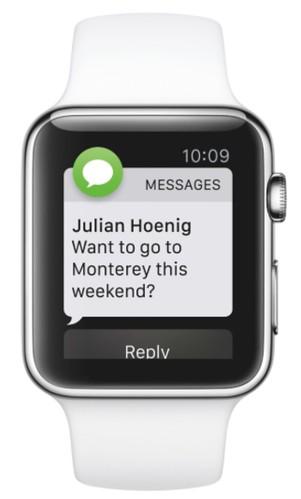 apple watch sms