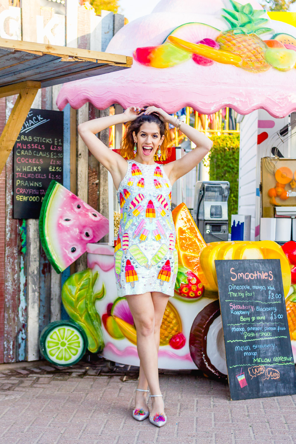 margate dreamland fruit stand ice cream asos dress